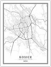 Leinwand Bild,Slowakische Kosice Banska Stadtplan