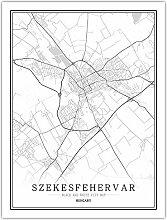 Leinwand Bild,Ungarn Szekesfehervar Stadtplan