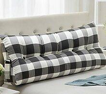 Leinwand Dreieck Kissen Bett Kissen Double Bedside Soft Package ( Farbe : 7# , größe : 22*50*120cm )
