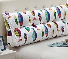 Leinwand Dreieck Kissen Bett Kissen Double Bedside Soft Package ( Farbe : 5# , größe : 22*50*150cm )