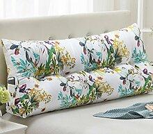 Leinwand Dreieck Kissen Bett Kissen Double Bedside Soft Package ( Farbe : 3# , größe : 22*50*120cm )