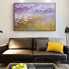 Leinwand Druck Plakat Monet Seerosen Gemälde An