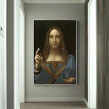 Leinwand Druck Plakat Salvator Mundi Berühmte