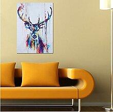 Leinwand Gemälde Bunte Nordischen Stil Dekorative