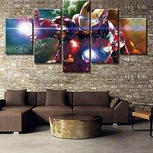 Leinwand Malerei 5 Stück HD-Druck Iron Man Marvel