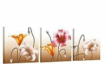 Leinwand Malerei Abstrakte Lilie Blume Wandkunst