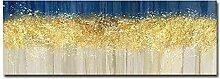 Leinwand-Malerei Schlafzimmer Dekoration Gold