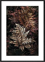 Leinwand-Malerei Schwarz Design Tropische Pflanzen