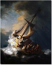 Leinwand Ölgemälde Schiff Wand Kunstdrucke Bild