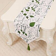 Leinwand Tischläufer Tischdecke Tee Tischdecke für Wohnzimmer Bett Läufer für Schlafzimmer Schrankabdeckung Handtuch Tischset Lange Tischdecke (Farbe : StyleB, größe : 33*300cm)