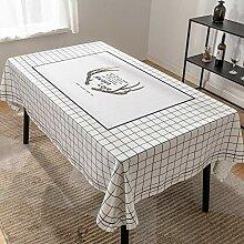 Leinwand Wasserdichte Tischdecke Druck Tischdecke