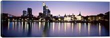 Leinwandbild Abendglanz, Frankfurt, Deutschland