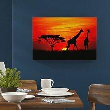 """Leinwandbild """"Afrika Giraffen im"""