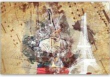 Leinwandbild Ballerina und der Eiffelturm