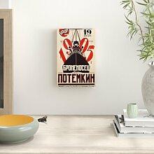 Leinwandbild Battleship Potemkin Kinoplakat East