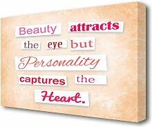 Leinwandbild Beauty Attracts the Eye But East