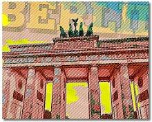 "Leinwandbild ""Berlin"", Grafikdruck East Urban"
