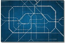 """Leinwandbild """"Berlin Metro"""", Grafikdruck East"""