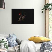 Leinwandbild Black Swan, Fotodruck Big Box Art