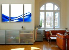 LeinwandBild Blue Design Triptychon II