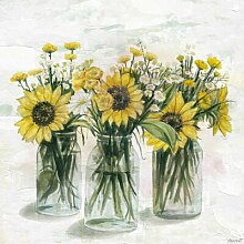 Leinwandbild Blühende Sonnenblumen