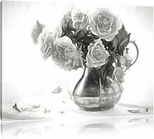 Leinwandbild Blumenstrauß in Krug in