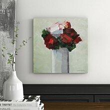 Leinwandbild Blumenstrauß in Rot Lily Manor