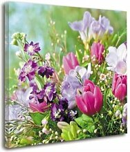 Leinwandbild Blumenstrauß ModernMoments