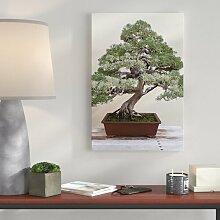 Leinwandbild Bonsai Baum, Fotodruck East Urban Home