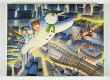 Leinwandbild Der Schneemann Die Saisontruhe