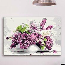 Leinwandbild DIY Vase und Blumen 17 Stories
