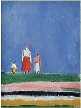 Leinwandbild Drei Figuren von Kasimir Malewitsch