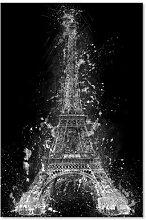Leinwandbild Eiffelturm bei Nacht