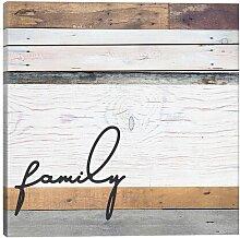 Leinwandbild Family Pallet von Front Porch Pickins
