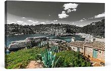 Leinwandbild Ferienhaus an der spanischen Küste