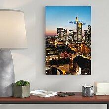 Leinwandbild Frankfurt Skyline, Fotodruck East