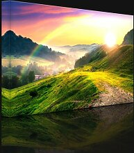 Leinwandbild Französische Berglandschaft bei