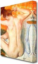 Leinwandbild Frau bei der Toilette 2 von Edgar