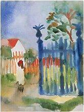 Leinwandbild Gartentor von August Macke East Urban