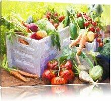 Leinwandbild Gemüsekiste