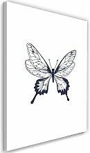 Leinwandbild Gezeichneter Schmetterling