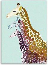 Leinwandbild Giraffen World Menagerie