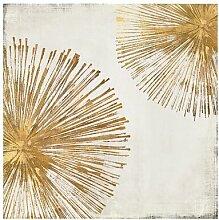 Leinwandbild Gold Star I von PI Galerie Canora Grey
