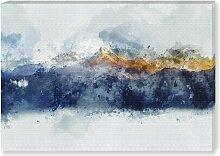 Leinwandbild Golden Mountains, 70 × 100 cm
