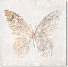 Leinwandbild Goldener, glitzernder Schmetterling