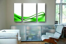 LeinwandBild Green Design Triptychon II