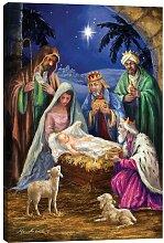 Leinwandbild Holy Family with Three Kings von