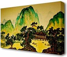 Leinwandbild Japanische Bonsai-Gärten Folklore