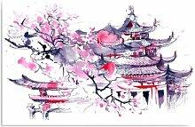 Leinwandbild Japanische Landschaft