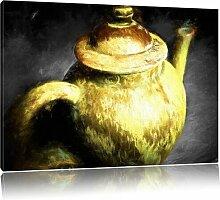 Leinwandbild Klassische Teekanne aus Keramik